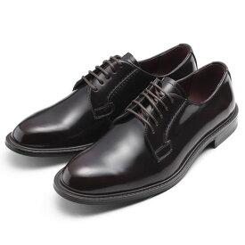 【ポイント10倍 クーポン配布中】 SARABANDE サラバンド 外羽 プレーントゥ ビジネスシューズ 紳士靴 25.5cm 41サイズ 本革 ダークブラウン 8601-DBR-41