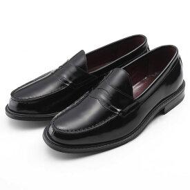 【ポイント10倍 クーポン配布中】 SARABANDE サラバンド コインローファー ビジネスシューズ 紳士靴 27.0cm 44サイズ 本革 ブラック 8608-BLK-44