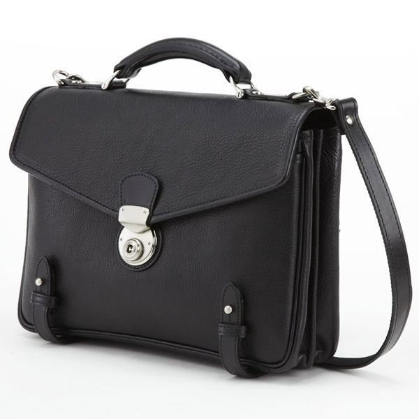 LuggageAOKI 青木鞄 GAZA ガザ DINALY BUSINESS II 2way ブリーフケース ショルダーバッグ 日本製 本革 ブラック 4873-10