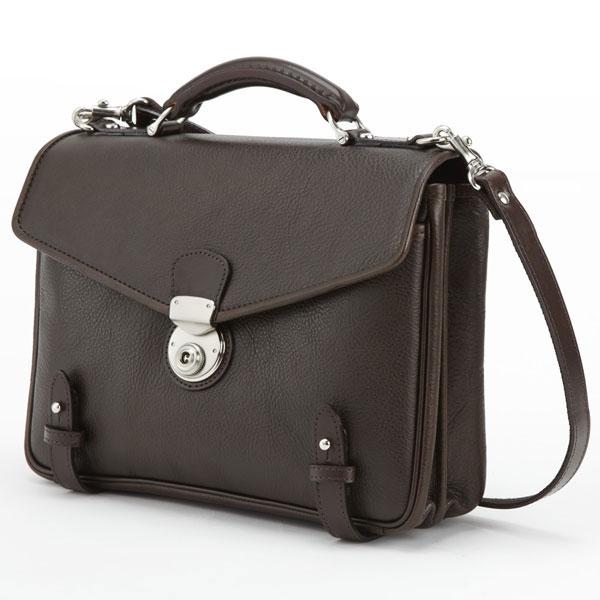 LuggageAOKI 青木鞄 GAZA ガザ DINALY BUSINESS II 2way ブリーフケース ショルダーバッグ 日本製 本革 チョコ 4873-56