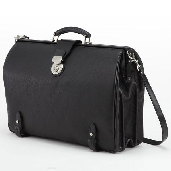 LuggageAOKI 青木鞄 GAZA ガザ DINALY BUSINESS II ダレスバッグ ドクターバッグ B4 Lサイズ 日本製 本革 ブラック 4876-10