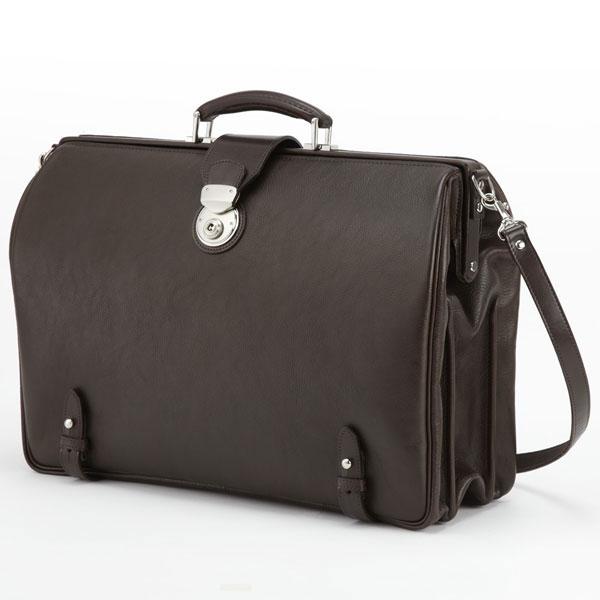 LuggageAOKI 青木鞄 GAZA ガザ DINALY BUSINESS II ダレスバッグ ドクターバッグ B4 Lサイズ 日本製 本革 チョコ 4876-56