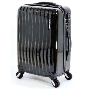 【全商品ポイント10倍】 エンドー鞄 FREQUENTER wave フリクエンター ウェーブ 超静音 4輪 ファスナー スーツケース 47cm 34L クロ 1-622-BK