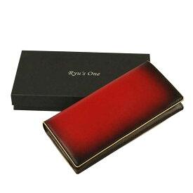 【全商品ポイント10倍】 服部 RYU'S ONE リューズワン GG 牛革製 長財布 レッド 15-4004-RD