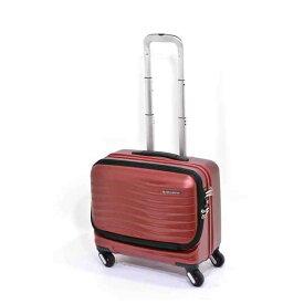 【全商品ポイント10倍】 エンドー鞄 FREQUENTER CLAM フリクエンター クラム 超静音 4輪 横型 ハードキャリー スーツケース フロントオープン 機内持込 46cm 34L ワイン 1-211-WN