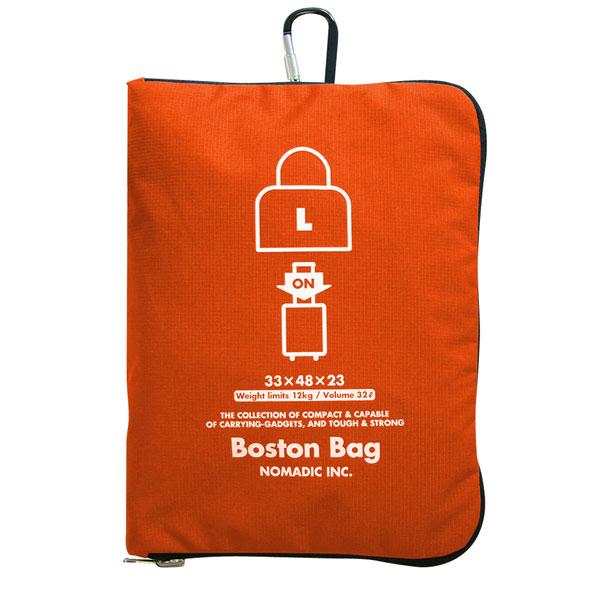 NOMADIC ノーマディック FOLDING BAG 折りたたみバッグ キャリーオン機能付き ボストンバッグ Lサイズ オレンジ FO-31-OR