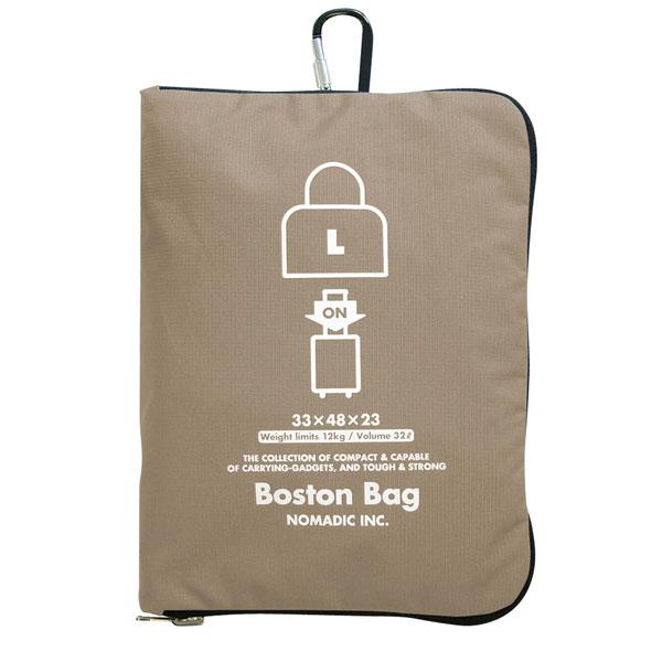 NOMADIC ノーマディック FOLDING BAG 折りたたみバッグ キャリーオン機能付き ボストンバッグ Lサイズ ベージュ FO-31-BE