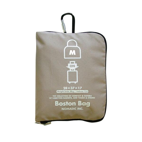 NOMADIC ノーマディック FOLDING BAG 折りたたみバッグ キャリーオン機能付き ボストンバッグ Mサイズ ベージュ FO-32-BE
