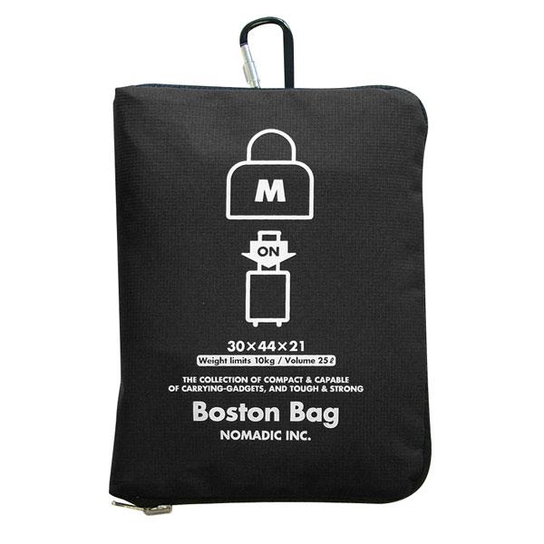 NOMADIC ノーマディック FOLDING BAG 折りたたみバッグ キャリーオン機能付き ボストンバッグ Mサイズ ブラック FO-32-BK
