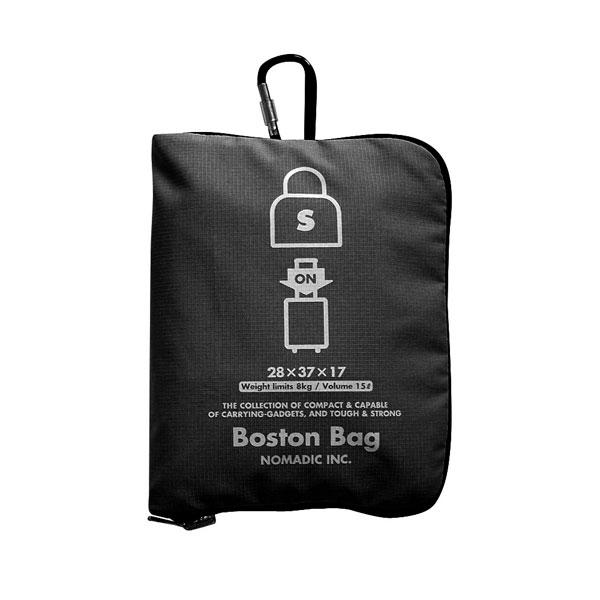 NOMADIC ノーマディック FOLDING BAG 折りたたみバッグ キャリーオン機能付き ボストンバッグ Sサイズ ブラック FO-33-BK
