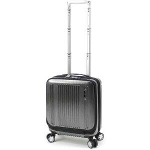 【全商品ポイント10倍】 BERMAS PRESTIGE II バーマス プレステージ2 4輪 フロントオープン コインロッカーサイズ スーツケース ハードキャリー ファスナータイプ 21L 機内持込 TSAロック付 ブラッ