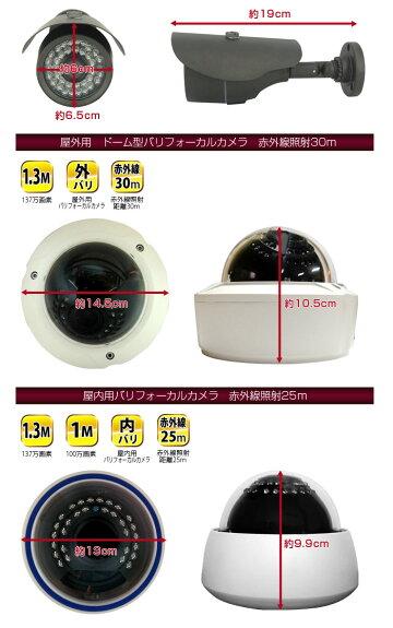 【AHD専用】防犯カメラ監視カメラ単品【超高画質137万画素or100万画素】バリフォーカルカメラ