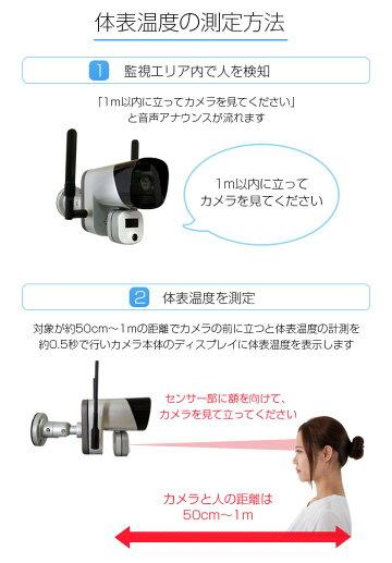 サーマルカメラ[温度スクリーニングカメラ]体表温度検知カメラ体表温度測定カメラ温度測定カメラサーモグラフィー非接触式おでこ感染症予防対策サーマルカメラ防犯カメラ監視カメラ