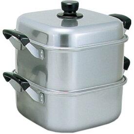 アカオ アルミ 角型蒸器30cm 一重(蒸し器・蒸し鍋)