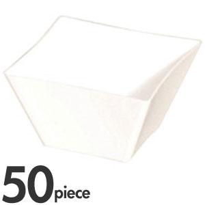 solia ソリア ミニキューブ カーブエッジ 50ml PS32162 ホワイト 50個