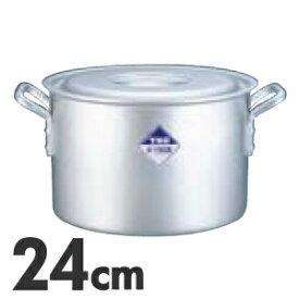 TKG アルミニウム半寸胴鍋 目盛付 24cm