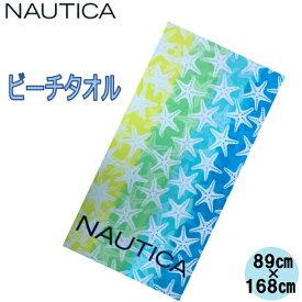 NAUTICA ノーティカ ビッグサイズ ビーチタオル ヨガタオル タオルケット カラフル ロゴ ヒトデ柄