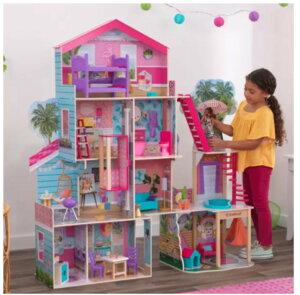 【即納品◎】【家具付きです♪】キッドクラフト ドールハウス プールパーティー マンション ドールハウス Kidkraft Pool Party Mansion Dollhouse 家具 小物付き おままごと お人形遊び 女の