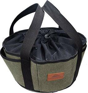 キャンピングムーン(CAMPING MOON) ダッチオーブン ケース 帆布製 10インチ ダッジオーブン用 収納バッグ DO-28BK