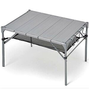 キャンプ テーブル 【S字フック4個+脚キャップ付き】 無限連結可能 耐荷重40kg 耐熱200度 GUAPO 折りたたみ 組立簡単 軽量 コンパクト アウトドアテーブル ローテーブル ソロキャンプ