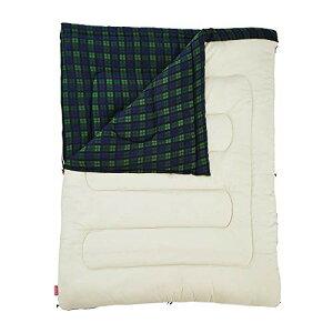 コールマン(Coleman) 寝袋 フリースアドベンチャー C0 使用可能温度0度 封筒型 グリーンチェック 2000033804