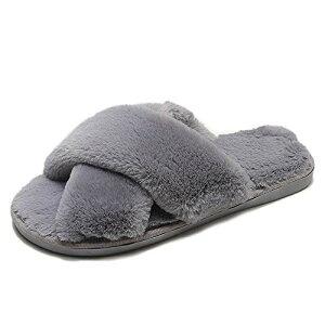 [AOUA] ルームシューズ レディース スリッパ 冬 暖かい 室内 履き ポンポン あったか 柔らかい ふわふわ 防寒 靴 もこもこ かわいい 滑り止め 軽量 静音 クロスオーバー (23-23.5 cm)