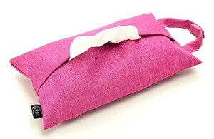 Kuai 車用 ティッシュケース ティッシュホルダー ティッシュカバー 吊り下げ 壁掛け 撥水 防水 カラバリ 安い おしゃれ シンプル ピンク