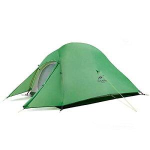 Naturehike テント 2人用 アウトドア 二重層 超軽量 4シーズン 防風防水 PU3000/4000 キャンピング プロフェッショナルテント CloudUp2アップグレード版(専用グランドシート付) ((グリーン(210Tアッ