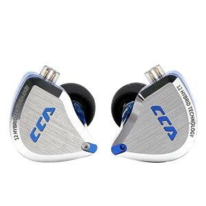 CCA C12 5BA+1DD HIFIハイブリッド型イヤホン 酸化処理で亜鉛合金フェイスプレート 肌に無害な医療用な樹脂 金メッキ3.5mmプラグと金メッキ0.75mm2pinコネクタ 重低音 リケーブル可能 脱着式 ノイズ