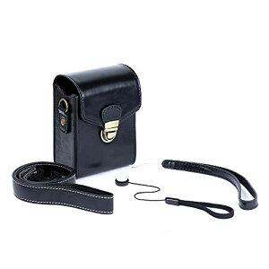 MOSSLIAN デジタルカメラケース Nikon COOLPIX A1000 /A900、Canon PowerShot G9 X Mark II/ G7 X Mark II/ PowerShot G5 X Mark II、Panasonic DC-TZ90 /DC-TZ85/ DMC-TZ70、SONY DSC-RX100M6/DSC-RX100M5/DSC-HX99V/DSC-WX800/DSC-WX700  汎用 高級PU製