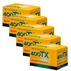 Kodak プロフェッショナル 白黒ネガフィルム モノクロフィルム TRI-X400 135-24枚撮 (5本パック)