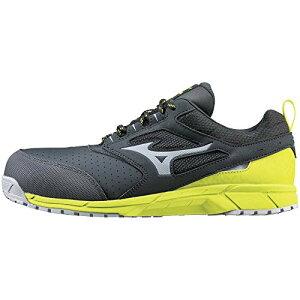 [ミズノ] 安全靴 オールマイティ AS15L 軽量 静電気帯電防止 紐 JSAA・普通作業用(A種) ダークグレー×グレー×イエロー 27.5 cm 3E