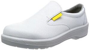 [シモン] 静電安全靴 短靴 JIS規格 耐滑 快適 軽量 クッション 静電気 予防 スリッポン 7517 白 24