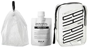 BULK HOMME(バルクオム) 洗顔料&泡立てネット&ポーチ セット 100g (メンズ スキンケア 男性 洗顔 濃密 泡 毛穴 )BULKHOMME THE FACE WASH&THE BUBBLE NET洗顔セット