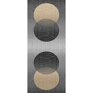 アーリエ(Arie) タペストリー のれん 壁掛け 壁飾り オシャレ インテリア コーディネート お部屋のアクセント 和風 五円相 ブラック 約42cm×120cm 747125