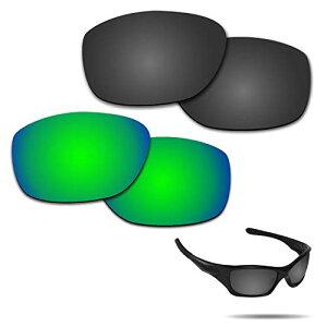 【2 pairs packed】Fiskr 剥がれ防止 Oakley Pitbull交換レンズ 偏光 ピットブル レンズ