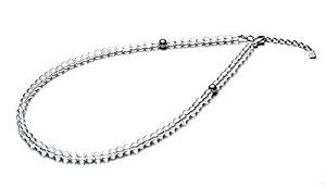 ファイテン(phiten) ネックレス 水晶ネックレス(5mm) 40cm(+5cmアジャスター)