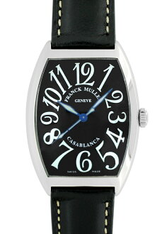 Frank Muller 6850 MC CASA Casablanca SS black dial automatic winding leather
