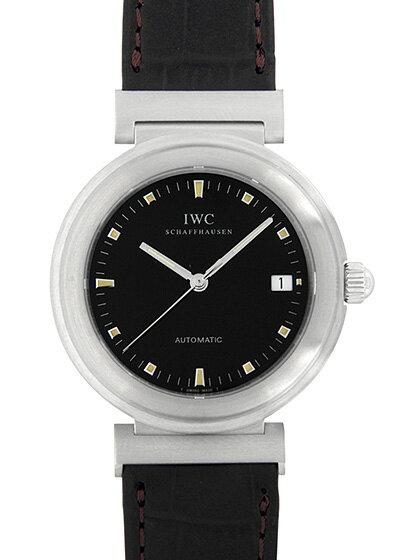 【中古】IWC IW352806 ダヴィンチ SL SS 黒文字盤 自動巻き レザー
