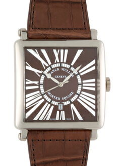 Franck Muller 6000 KSCDT men's master King 18 KWG Brown character machine leather