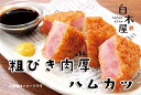 白木屋 粗びき肉厚ハムカツ(冷凍・120g×10ヶ/P)