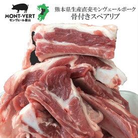 熊本県生産直売!骨付きスペアリブ 500g(250g×2) モンヴェールポーク 焼肉 煮込み バーベキュー  国産 豚肉 おでん 健康長寿 免疫力 ビタミン