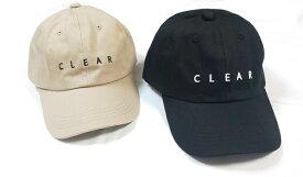 【 送料無料 メール便 】CLEARキャップ 帽子 キャップ CAP メンズ レディース 刺繍 シンプル レディースキャップ UV対策 お揃い リンクコーデ ペア ペアルック オシャレ おしゃれ 大人キャップ モカ mooca 楽天 セール