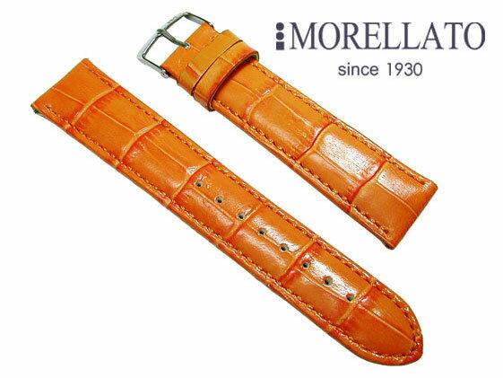 モレラート MORELLATO 腕時計 ベルト  サンバ SAMBA カーフ型押 オレンジ イージークリック