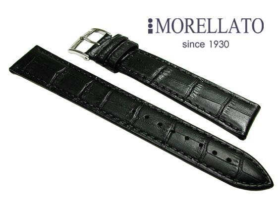 モレラート MORELLATO 腕時計 ベルト  ボーレ BOLLE XL カーフ型押 黒 ブラック ロングサイズ