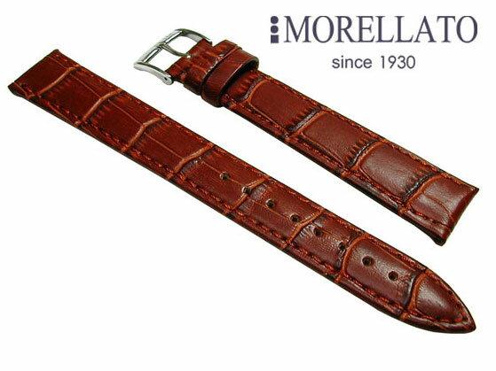 モレラート MORELLATO 腕時計 ベルト  ボーレ BOLLE XL カーフ型押 茶 ブラウン ロングサイズ