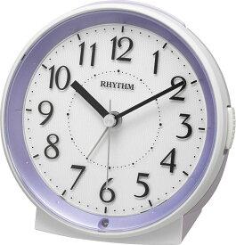 リズム時計 8RE669SR12 目覚まし 電池式クオーツ ピュアルックR669