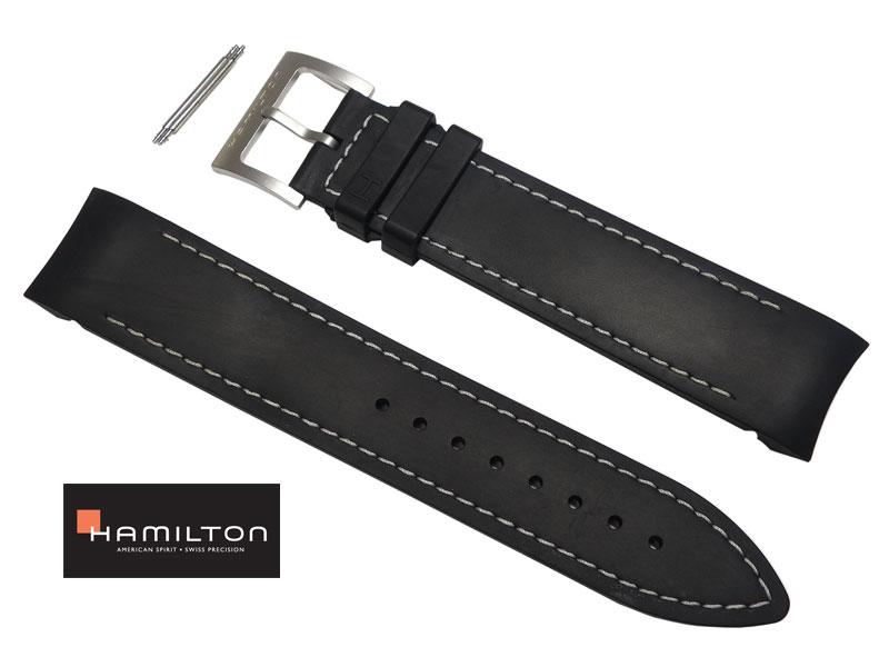 21mm ハミルトン純正 H77612333 ラバーベルト カーキETO HAMILTON H77612133 H77612333にも取り付け可能 正規品 H600.776.100