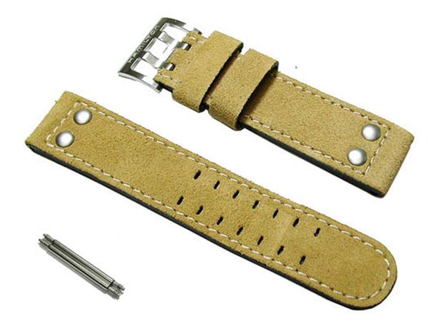 22mm ハミルトン純正 H70655733ベージュヌバック ベルト カーキ オフィサー オート HAMILTON 正規品