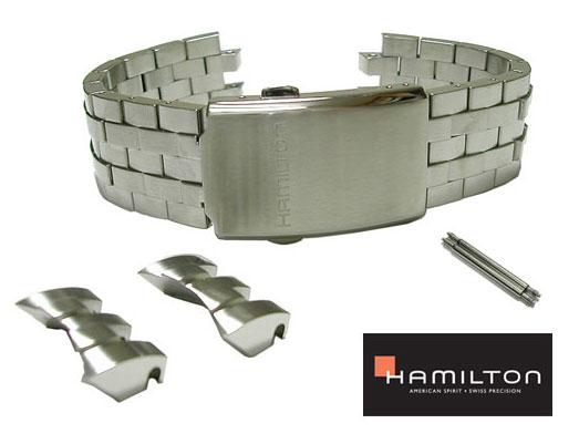 21mm ハミルトン純正 H77612133 ステンレススチール ベルトバンド ブレス カーキETO HAMILTON  H77622553 H77612333にも取り付け可能 H605.776.102 正規品 H605776102